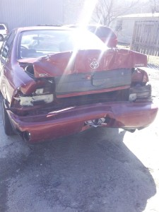Picture of car accident damage