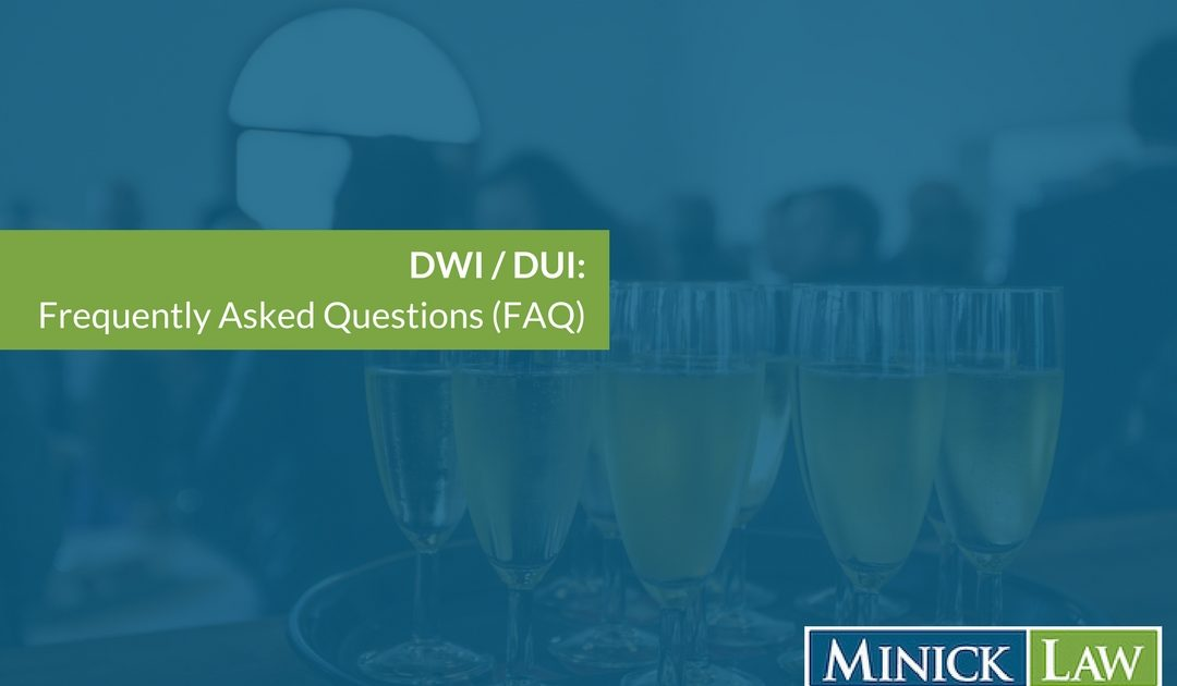Driving While Impaired Frequently Asked Questions
