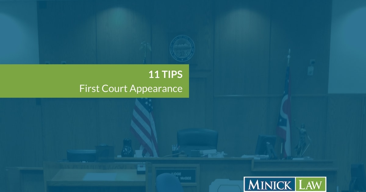 11 Tips First Court Appearance