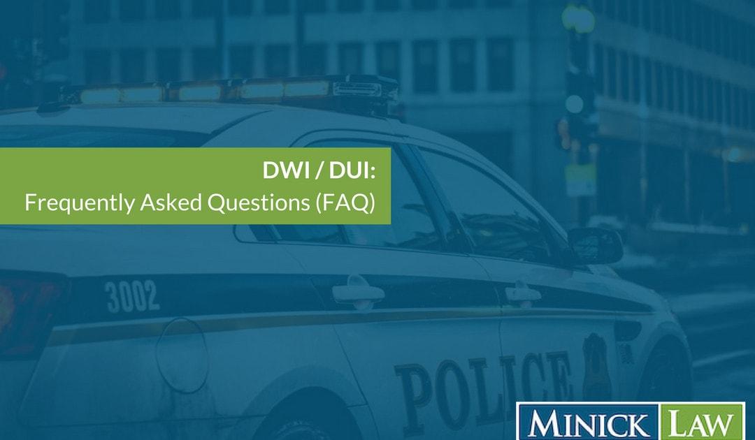FAQ after an arrest