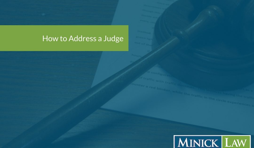 How To Address A Judge