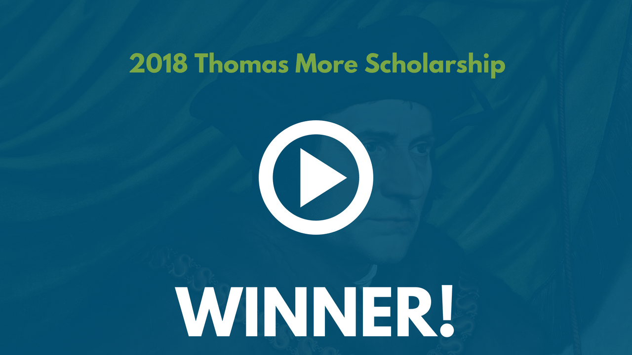 2018 Thomas More Scholarship Winner